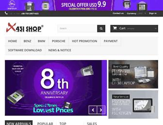 Main page screenshot of x431.us