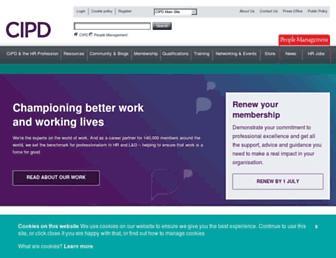 cipd.co.uk screenshot