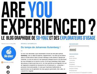 Main page screenshot of r-u-experienced.net