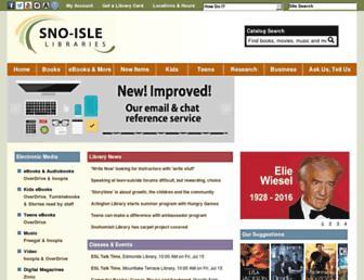 Main page screenshot of sno-isle.org