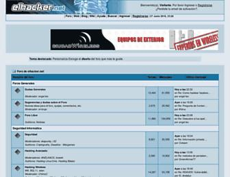Main page screenshot of foro.elhacker.net