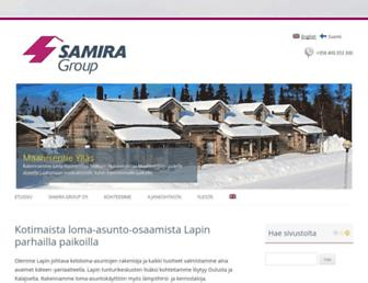 Main page screenshot of samira.fi