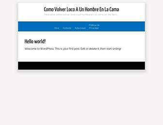 comovolverlocoaunhombreenlacama.com screenshot