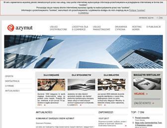 Main page screenshot of azymut.pl