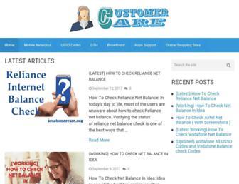 icustomercare.org screenshot