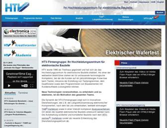 Main page screenshot of htv-gmbh.de