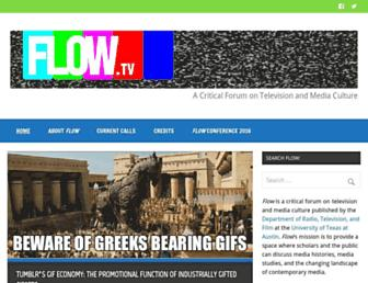 Main page screenshot of flowtv.org