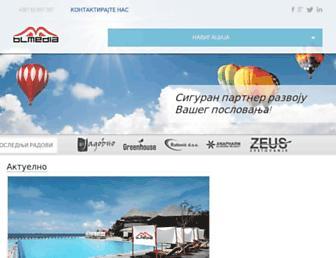 Main page screenshot of blmedia.rs.ba
