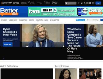 Main page screenshot of better.tv