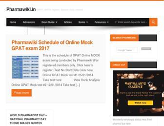 pharmawiki.in screenshot