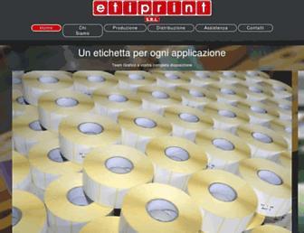 etiprint.it screenshot