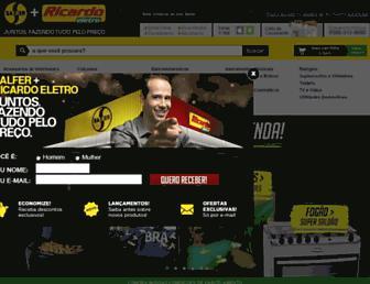 Main page screenshot of salfer.com.br