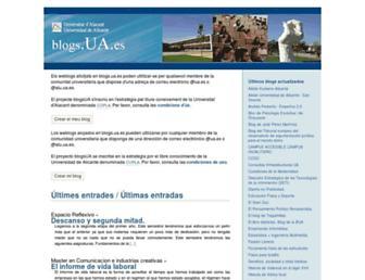 Main page screenshot of blogs.ua.es