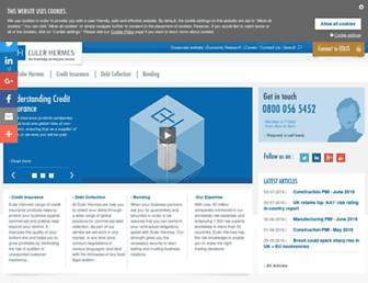 Main page screenshot of eulerhermes.co.uk