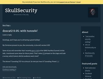 Main page screenshot of skullsecurity.org