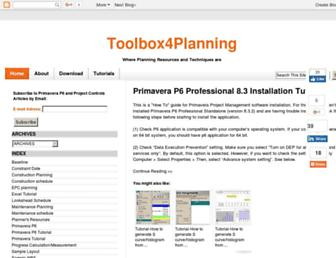 toolboxforplanning.com screenshot