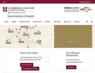 cambridge-exams.ch screenshot