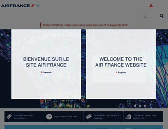 airfrance.ca screenshot