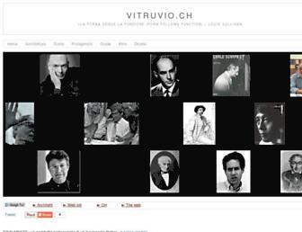 Main page screenshot of vitruvio.ch