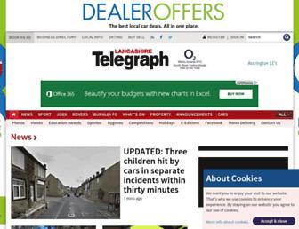 Main page screenshot of lancashiretelegraph.co.uk