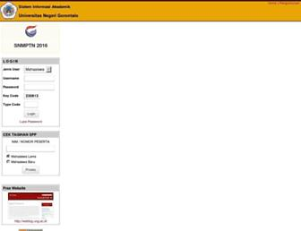 Main page screenshot of siat.ung.ac.id