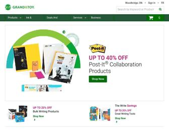 Main page screenshot of grandandtoy.ca