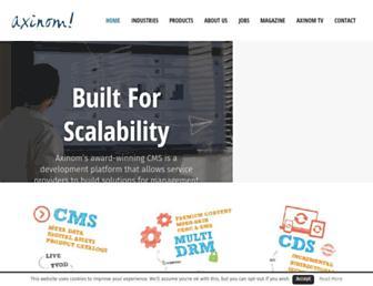 Main page screenshot of blogs.axinom.de