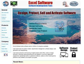 excelsoftware.com screenshot