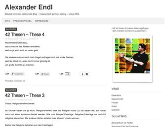 Main page screenshot of endl.de