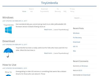 tinyumbrella.org screenshot