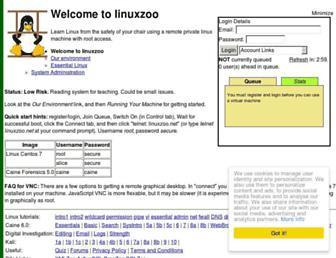 linuxzoo.net screenshot