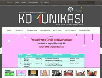 Main page screenshot of komunikasi.um.ac.id