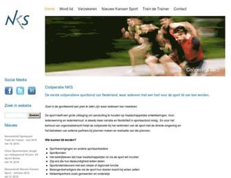 Main page screenshot of nks.nl
