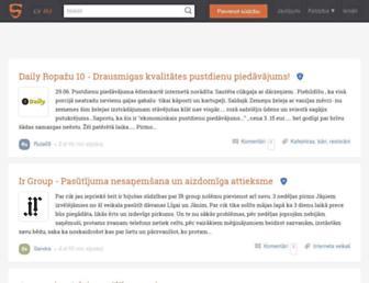 Main page screenshot of sudzibas.lv