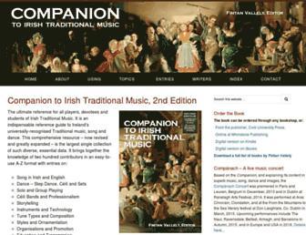 Main page screenshot of companion.ie