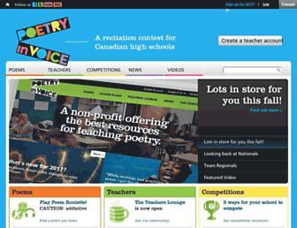 poetryinvoice.com screenshot