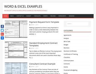wordexcelexamples.com screenshot