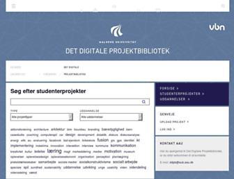 projekter.aau.dk screenshot