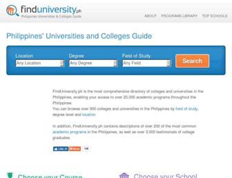 finduniversity.ph screenshot