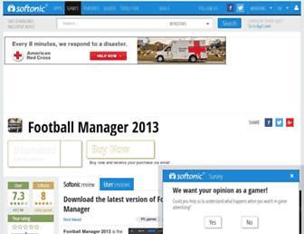 football-manager-2013.en.softonic.com screenshot