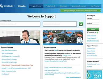 support.hexagonsafetyinfrastructure.com screenshot