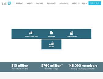 sofi.com screenshot