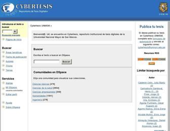 cybertesis.unmsm.edu.pe screenshot