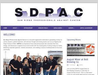 Main page screenshot of sdpac.org