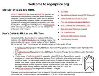 rogerprice.org screenshot