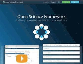 osf.io screenshot