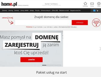 Main page screenshot of home.pl