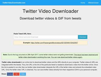 twittervideodownloader.com screenshot