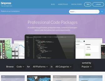 binpress.com screenshot