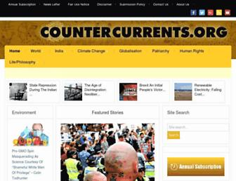 Main page screenshot of countercurrents.org